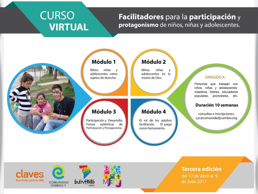 Curso virtual facilitadores para la participaci n y protagonismo de ni os ni as y adolescentes inscripciones abiertas para abril 2017